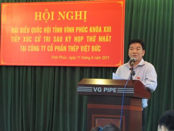 Đoàn đại biểu Quốc hội khóa XIII tỉnh Vĩnh Phúc tiếp xúc cử tri trước kỳ họp thứ ba, Quốc hội khóa XIII