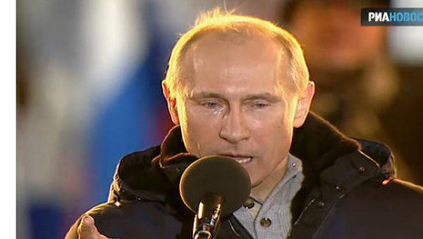 Putin rơi lệ khi tuyên bố chiến thắng ghế Tổng thống Nga