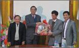 Đoàn lãnh đạo tỉnh Vĩnh Phúc đến thăm và chúc Tết Thép Việt Đức.