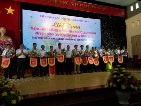 Liên hoan tiếng hát công nhân viên chức lao động huyện Bình Xuyên năm 2014