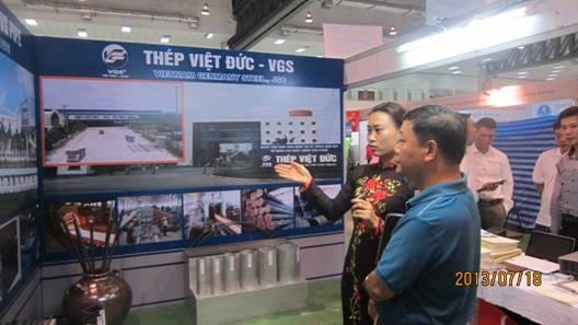 Thép Việt Đức - VGS tham dự Hội chợ Thương mại Việt - Lào 2013 (VIETLAOEXPO)