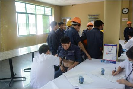 Thép Việt Đức tổ chức khám sức khỏe định kỳ cho CBCNV và người lao động