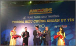 VG PIPE nhận giải thưởng Thương hiệu chứng khoán uy tín năm 2010