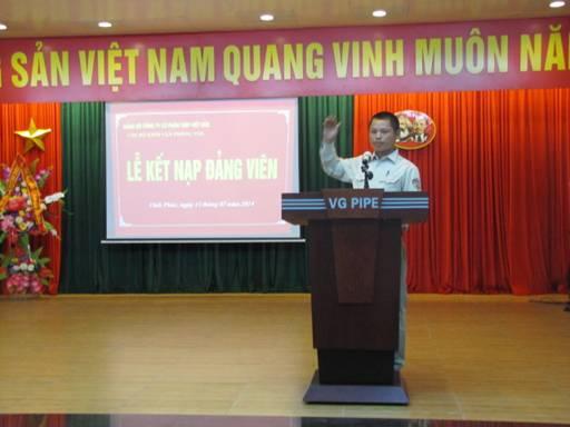 VGS  tổ chức lễ kết nạp đảng viên mới